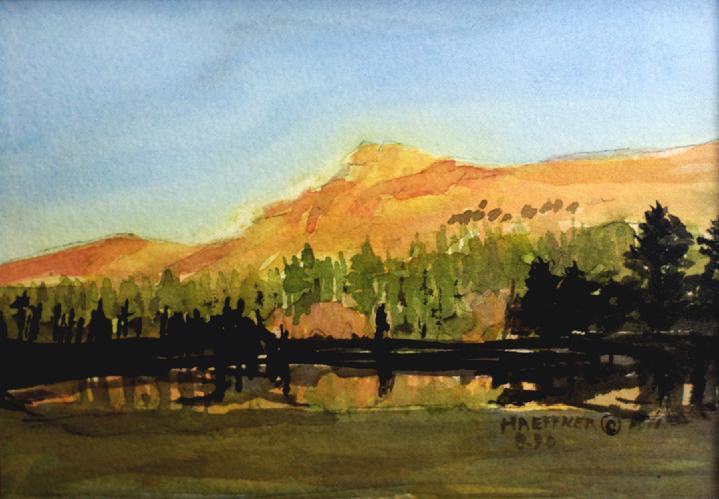 Yosemite Vista, Yosemite National Park, California:   Original Watercolor by Marie Haeffner-Reeves